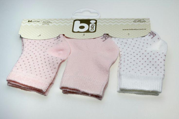 bibaby 3'lu bebek çorabı