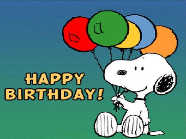 Die Peanuts alles Gute zum Geburtstag