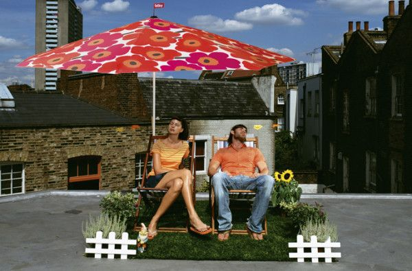 12 Umbrellas We'd Be Happy to Sit Under \\ I'm sure you know Fatboy and their incredibly comfortable bean bag chairs and adorable dog beds. Did you know they also make a massive sunshade featuring the ever popular Unikko flower fabric from Marimekko? Yep, The Flowerpowersol will bring a bit of color and iconic floral to any backyard. It also comes in a black version.