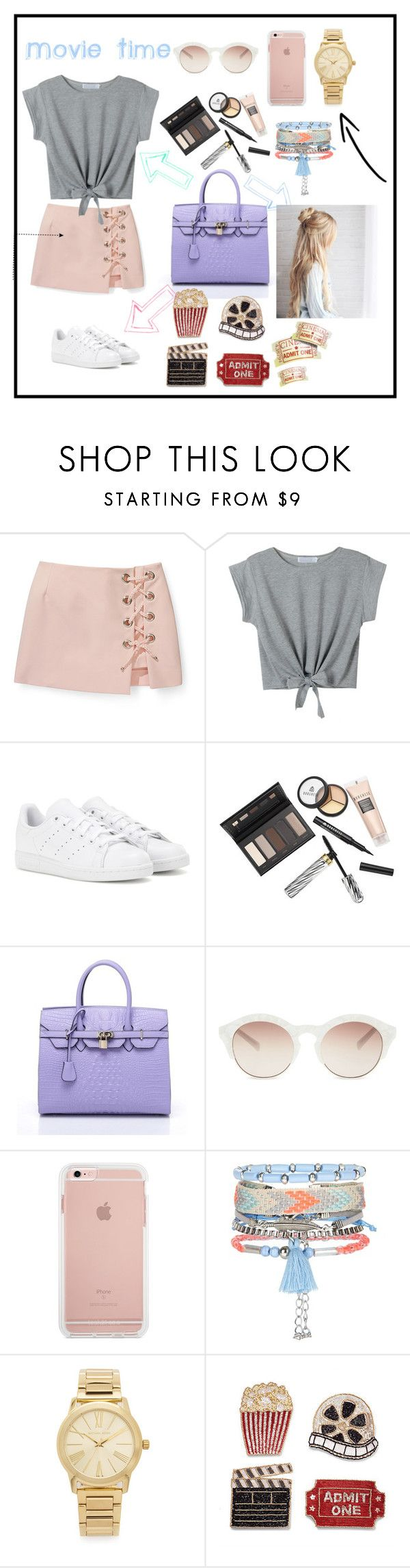 """Movie Time (Day 3) in LA"" by iamanabasco ❤ liked on Polyvore featuring Rebecca Minkoff, WithChic, adidas, Borghese, self-portrait, New Look, Michael Kors and Frontgate"