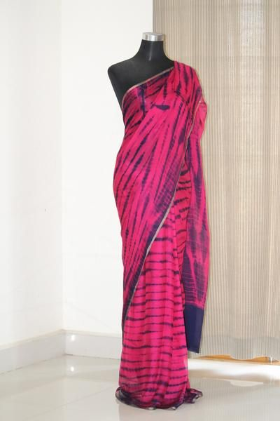 b3dd7f0b23 Pure chiffon shibori tie and dye saree in 2019 | sarees | Chiffon ...