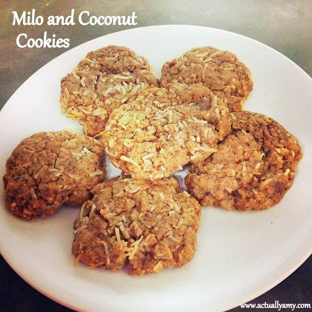 Milo and Coconut Cookies