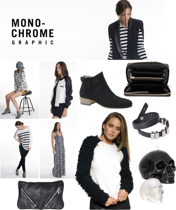 """The Trend - Monochrome"" by superettestore on Polyvore"
