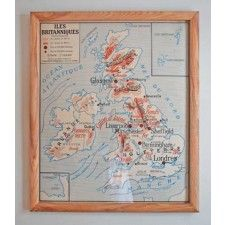 Cool reclaimed French education pictures.  Emily's framed posters - Planet Craft