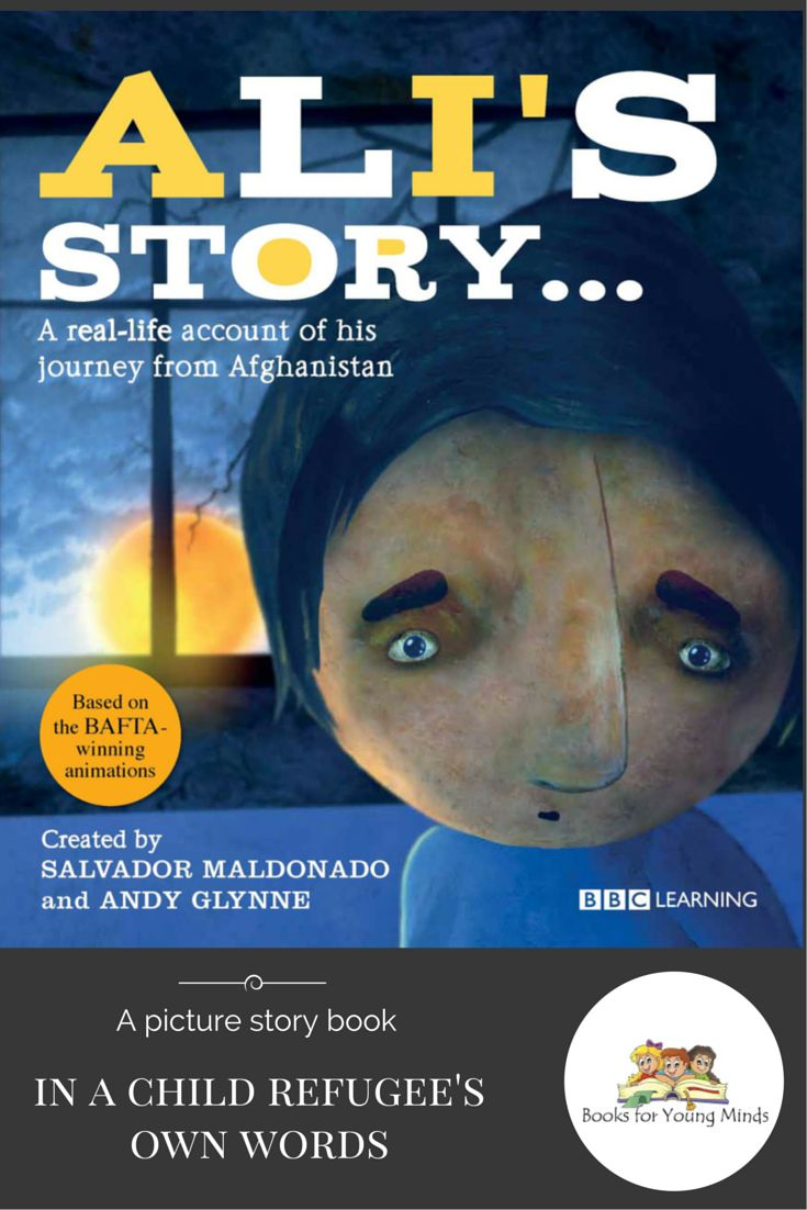 Ali's Story - available from Books for Young Minds AUD $24.99. This is the real-life story of 10-year-old refugee Ali who, accompanied by his grandmother, flees his home country of Afghanistan to avoid the conflict caused by the war.Told in Ali's own words, it documents his feelings of alienation, serparation and suffering that war can place on immigrant children and their families, and the thread of hope that can help them to overcome their ordeal.