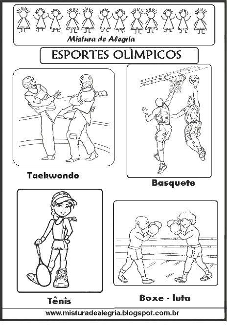 ESPORTES OLÍMPICOS PARA COLORIR, OLIMPÍADA 2016-Mistura de Alegria                                                                                                                                                      Mais