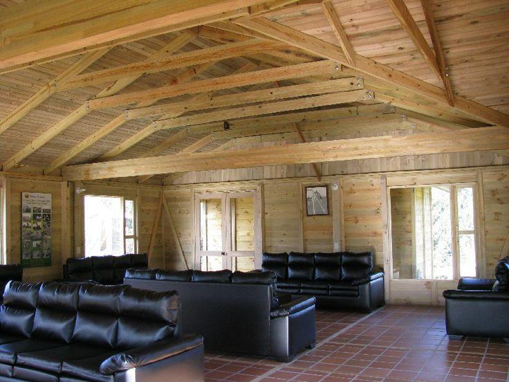 Chalet Escuela de Carabineros - Facatativa, Cundinamarca #woodarchitecture #wood #madera #casasenmadera #arquitecturaenmadera http://www.tallerdensamble.com