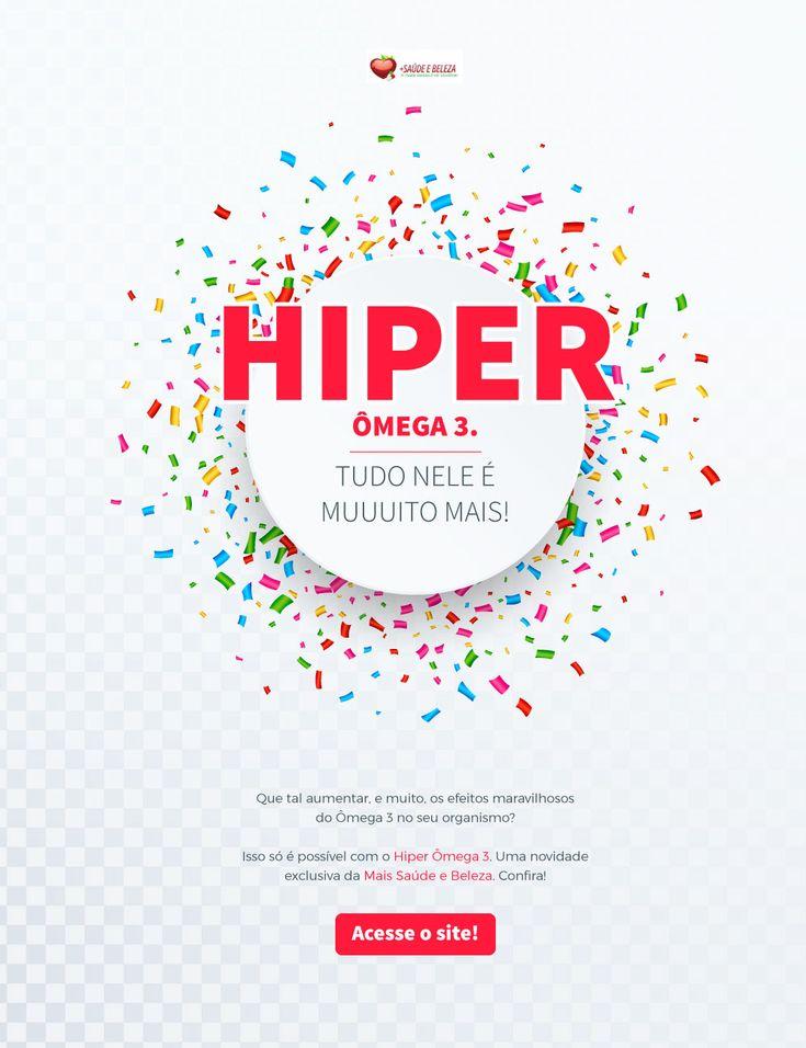 🚩 Novidade Exclusiva com a maior concentração de DHA e EPA por cápsula, atendendo a recomendação diária de uso da OMS.  🔖 http://www.maissaudeebeleza.com.br/resultadopesquisa?pag=1&departamento&buscarpor=bhf&smart=0%3Futm_source%3Dpinterest&utm_medium=link&utm_campaign=Hiper+Ômega&utm_content=post  👉 Você também pode comprar no WhatsApp (41) 98868-4301   (41) 3022-7393 Seg. à Sex. das 8h às 18h   Sábados das 8h às 12h.