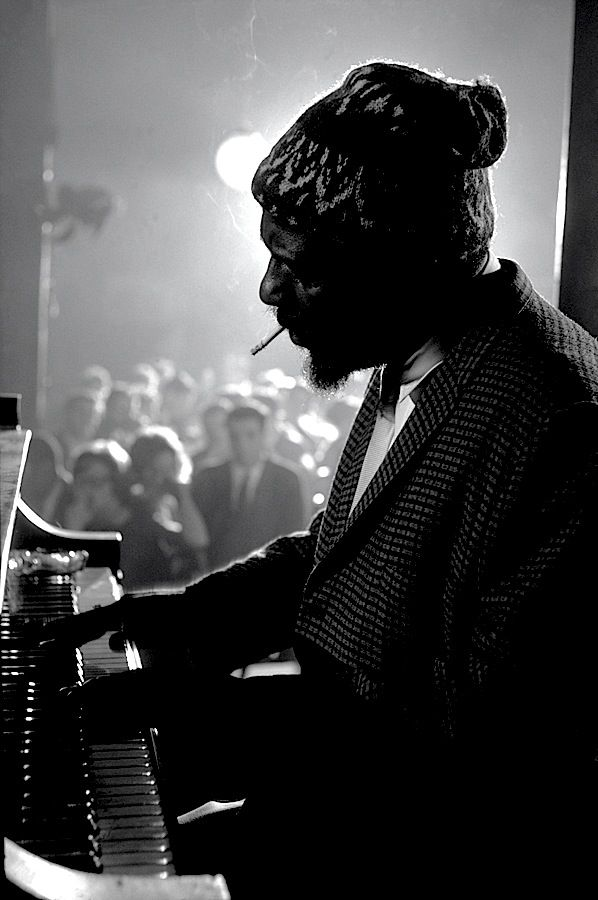 New York, 1975. Thelonious Monk performing at the Newport Jazz Festival (better known as the JVC Jazz Festival since 1984). ☚
