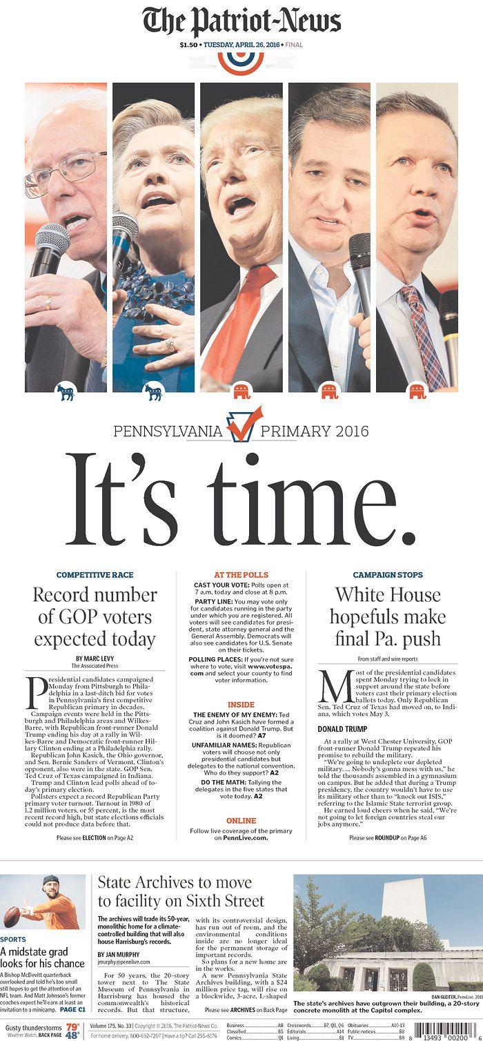 The Patriot-News 4/26/16 via Newseum