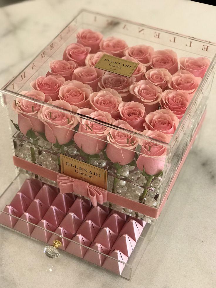 Cherie Flower Box Gift Flower Shop Decor Flower Gift