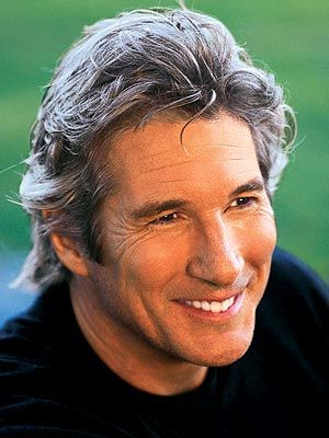 "Actor Richard Gere. How does one go from  ""American Gigolo"" to the Dali Lama? Fascinating."