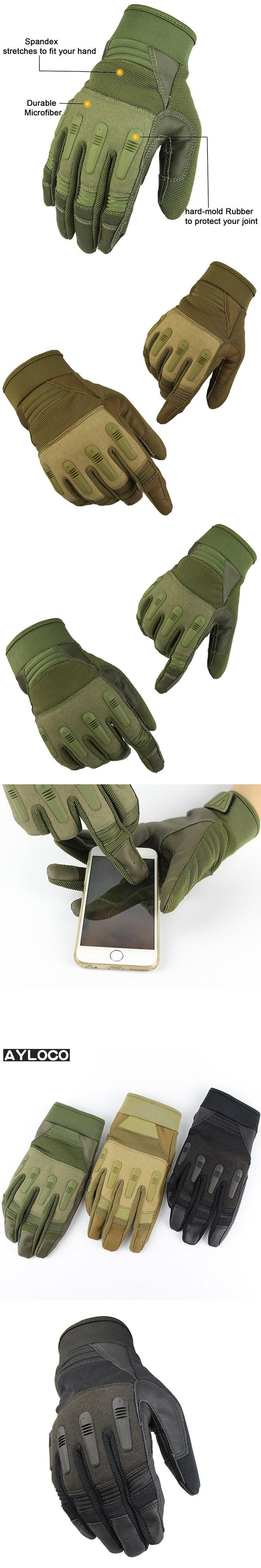 Men's Army Gloves Man Full finger gloves Military police Safety Gloves Speed dry Anti-Slippery Leather Tactical Gloves