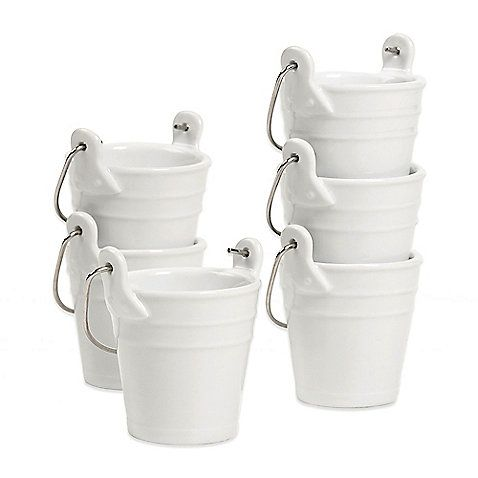 Create the perfect casual dining experience with the Denmark Condiment Buckets. Produced to exacting standards, these charming, vitrified porcelain buckets feature a contemporary, streamlined design with clean lines and elegant appeal.