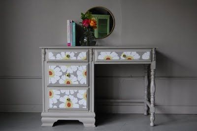 Hand-painted, refinished desk - Next big weekend project!