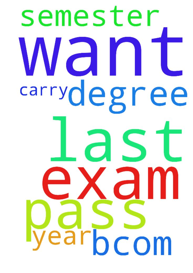 I want  pass all my exam this is my last - I want pass all my exam this is my last semester for b.com please pray for us I want carry my degree in this year Posted at: https://prayerrequest.com/t/EJl #pray #prayer #request #prayerrequest