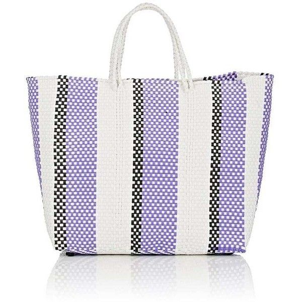Truss Women's Medium Tote Bag found on Polyvore featuring bags, handbags, tote bags, stripe tote bag, striped purse, woven tote, woven tote bags and stripe tote