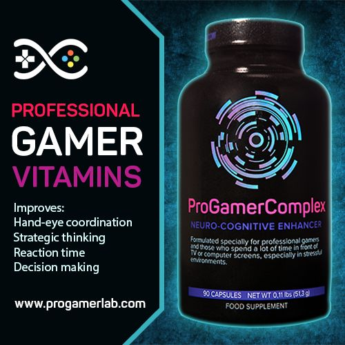 Professional vitamins complex designed for gamers