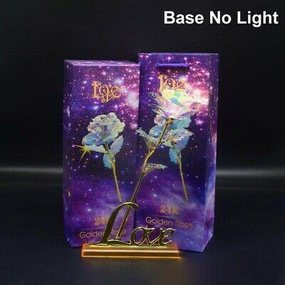 Details über Galaxy Rose Flower Valentinstag Lovers 'Gift Romantische Blume mit Liebesbasis   – Gre@t id3as 2 kn♡₩