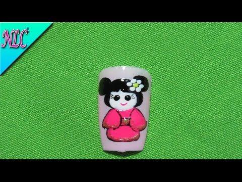 Decoracion de uñas Japanese Dolls Canvas - Japanese Nail Art - Decoracion De Muñequita - NLC - YouTube