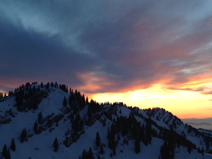 Sonnenuntergang am Hochgrat im Allgäu