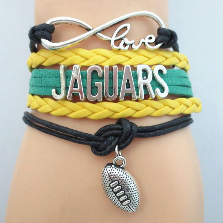 Infinity Love Jacksonville Jaguars Football Bracelet BOGO