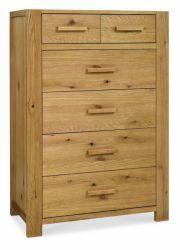 Kendal Oak 2+4 Drawer Chest http://solidwoodfurniture.co/product-details-oak-furnitures-4077--kendal-oak-drawer-chest.html