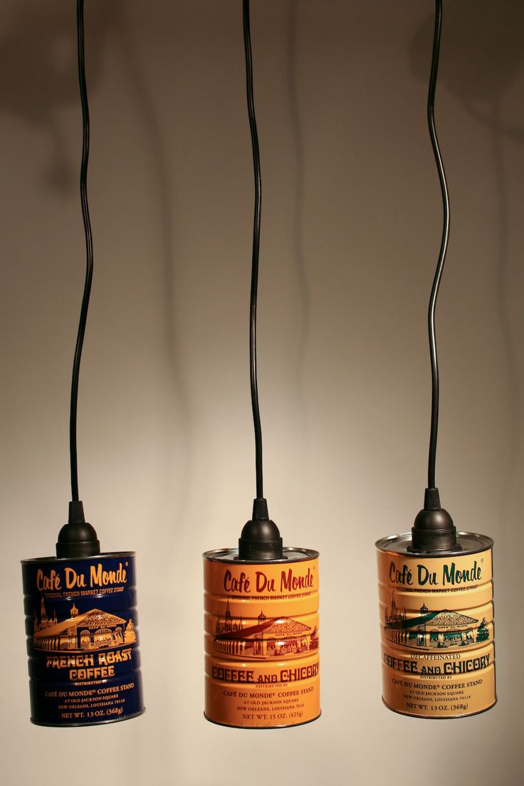 Cafe Du Monde Coffee Can Pendant Lights @Rachel Flickinger - thought of you.