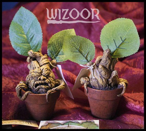 Hand painted resin cast Harry Potter Mandrake, size approx 15 cm (with leafs) collectible item! Harry Potter Mandrake