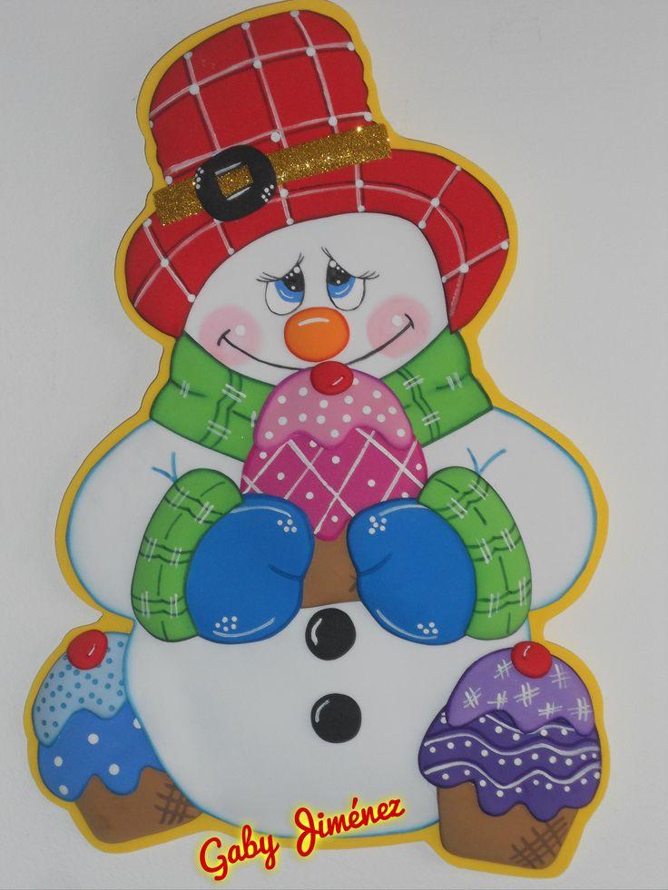 Dulce muñeco de  nieve