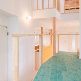 『志和堀の家』スキップフロアのある家の部屋 セカンドリビング-家族をつなぐ場所