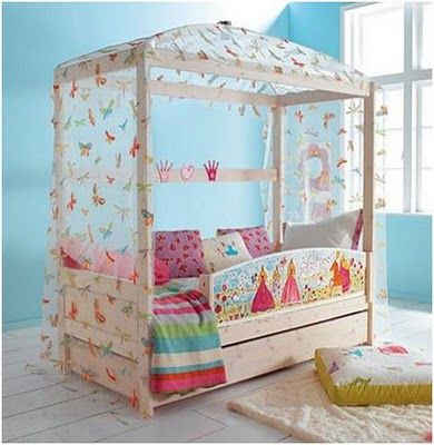Butterfly kisses :)Princesses Theme, Kids Bedrooms, Girls Bedrooms, Kids Room, Canopies Beds, Four Posters Beds, Big Girls, Princesses Bedrooms, Bedrooms Ideas