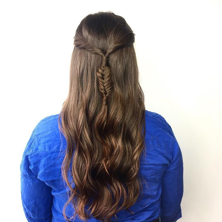 perfect hair for prom! love this twisted fishtail braided style