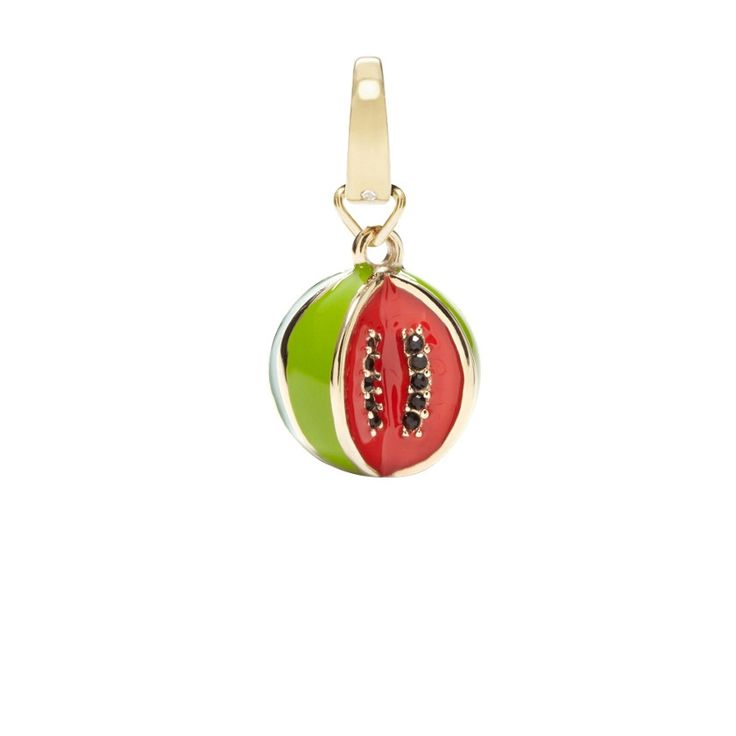 #Fossil #charm #watermelon #gold #fruits #summer