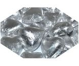 A bulk 1kg bag of Dolci Doro Silver Chocolate Hearts.