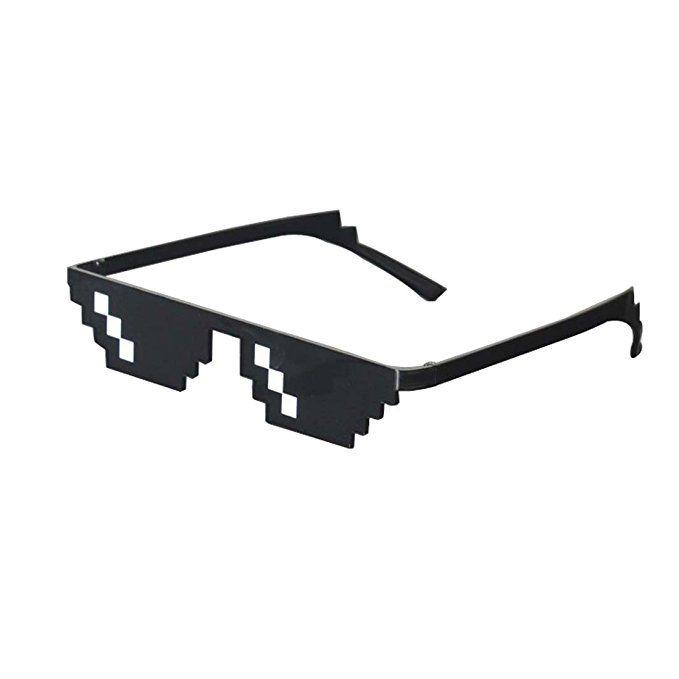 Lorigun Thug Life Sunglasses Pixelated Mosaic Glasses Party Glasses Deal With It Mlg Shades Thug Life Pixel Retro Futurism