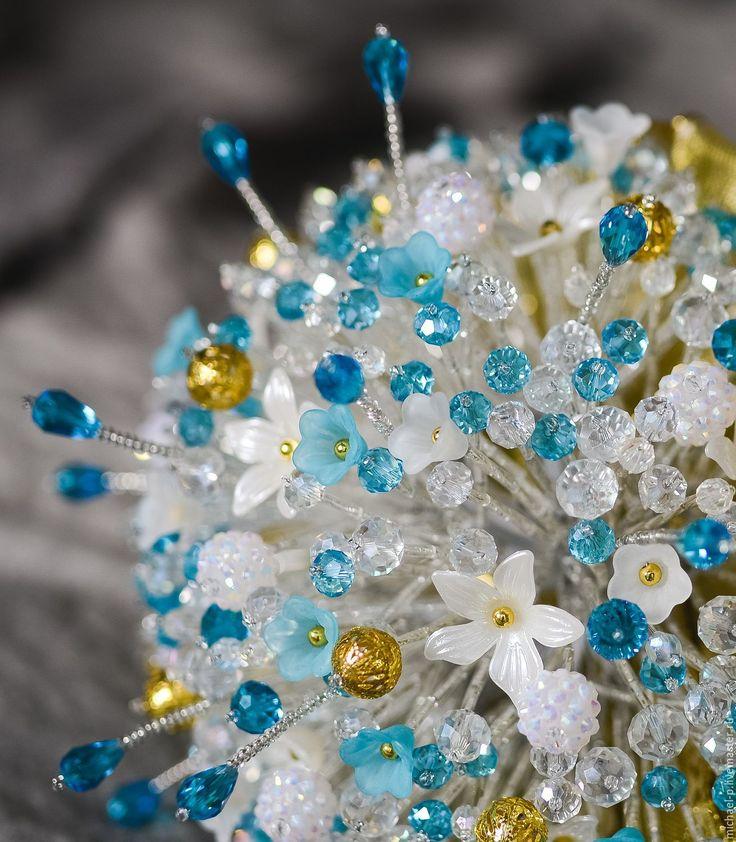 Букеты из бусин купить в москве недорого, букет невесты недорого