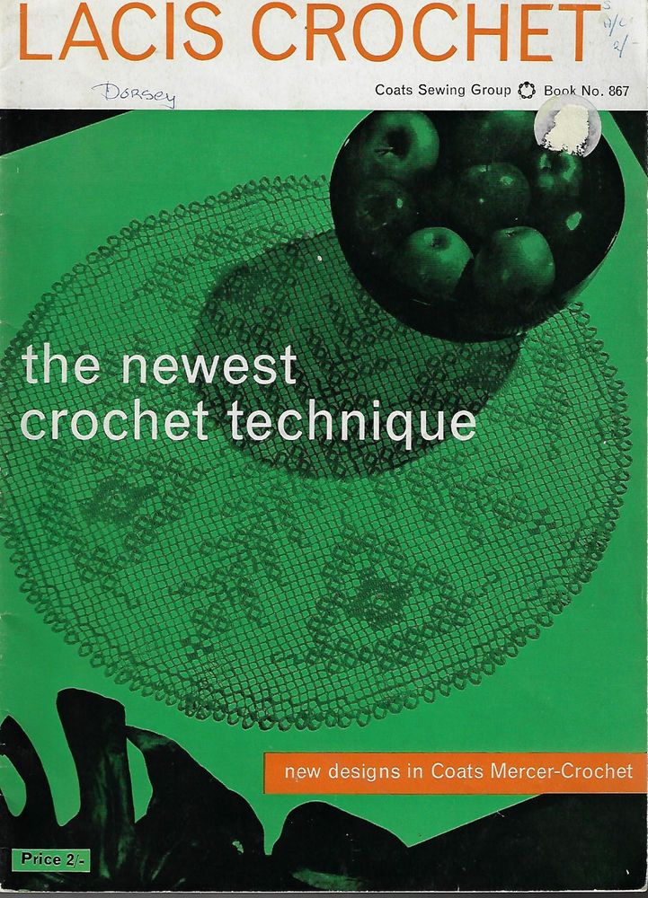 Lacis Crochet for the Home Coats # 867 vintage crochet pattern book doily runner #CoatsSewingGroup