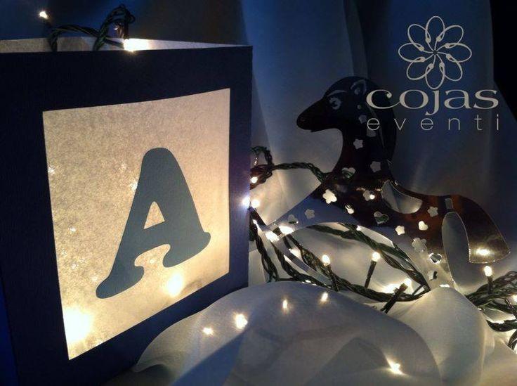 Cubo Porta candela con personalizzazione, ideali per decorare le vostre feste e camerette dei vostri bimbi.  cojaseventi.com   https://www.facebook.com/pages/Cojas-Eventi-Wedding-Planner-Sardegna/192376730792148