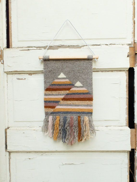 "Handwoven Tapestry / Woven Wall Hanging / Weaving ""Muted Mountains"""