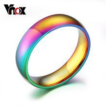 Di modo 18 k placcato anello delle donne di colore magico in acciaio inox anelli di fidanzamento dei monili del partito regali di natale(China (Mainland))