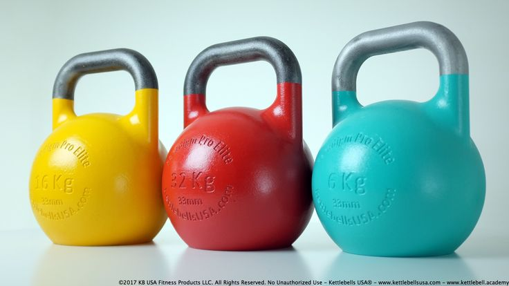 33mm Handle Diameter Paradigm Pro® Elite Inner Core Technology™ Steel Competition Kettlebells - Free Shipping - Kettlebells USA® - Engineering The World's Best Kettlebells