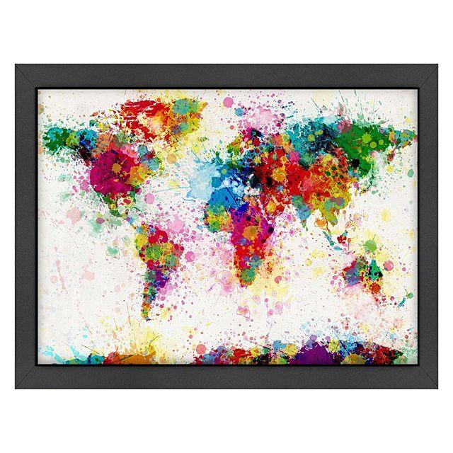 Americanflat World Map Splash Print Art