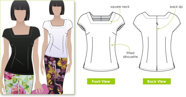 Versatile wardrobe builder, fitted woven top suitable for all seasons  from stylearc.com.au