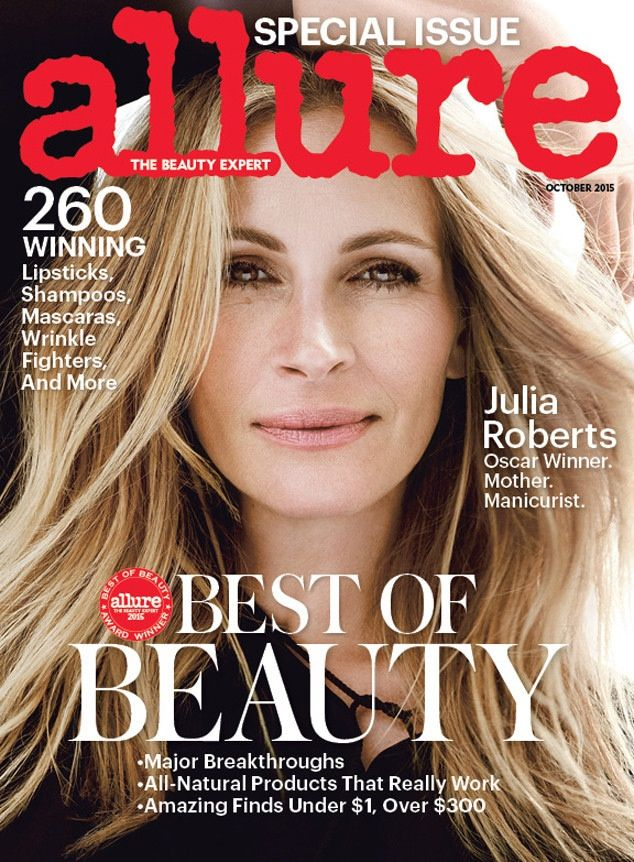 Beauty Mags: Julia Roberts | Allure US October 2015