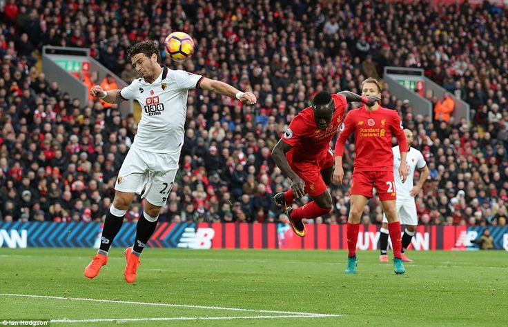 Sadio Mane (right) showed great ingenuity to open the scoring with a deft header after just 25 minutes