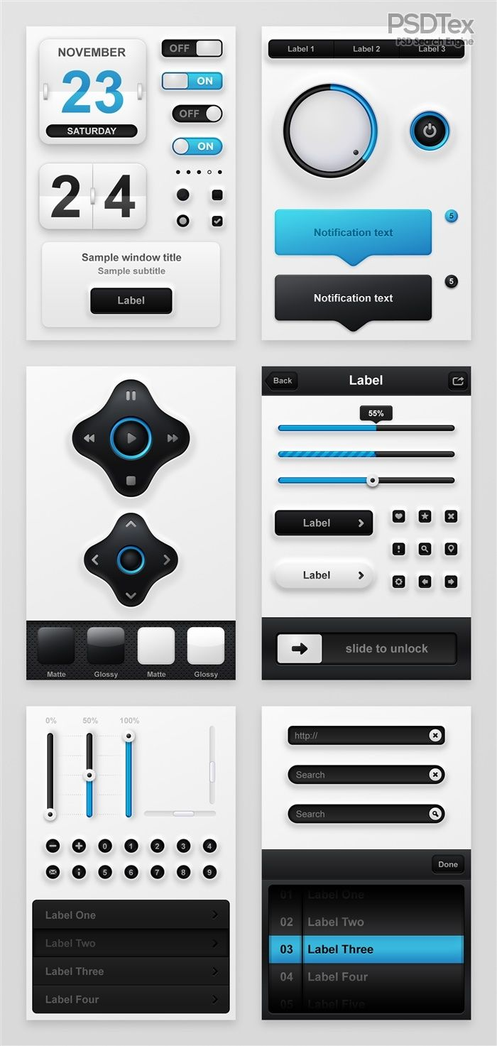 Creative phone exquisite blue UI design PSD  source files