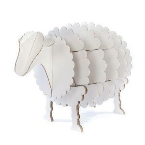mouton en carton mr pelote blanc l meubles en carton pinterest. Black Bedroom Furniture Sets. Home Design Ideas
