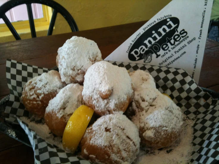 Panini Pete's in the Fairhope French Quarter makes the best Beignets (French Doughnuts). Fairhope, Alabama.