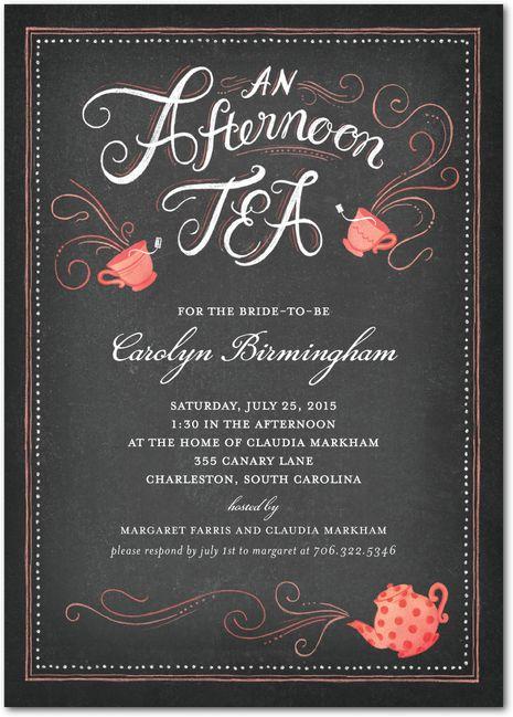 12 best high tea invitation images on Pinterest ...